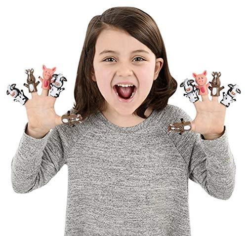 (Forest & Twelfth Kids Finger Puppet Set Pack 12 Farm Animals Finger Puppets | Size (2