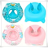 SHINA Inflatable Baby Child Handle Safety Seat Float Ring Raft Chair Pool Swimming Toy (Pink)