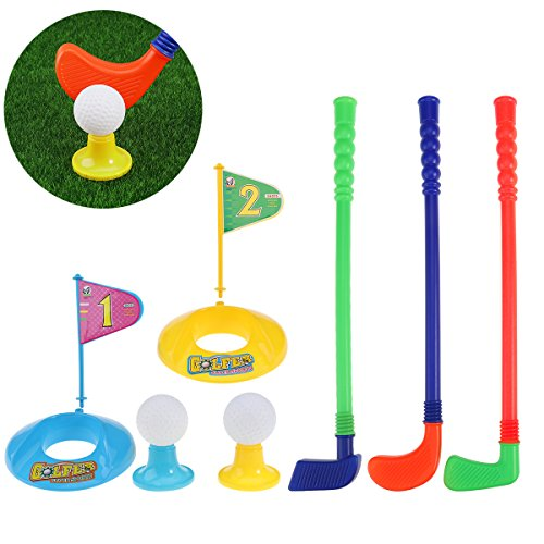 TOYMYTOY Children Kids Plastic Golfer Toy Golf Set Game Toy