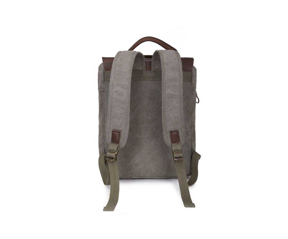 Amyannie Shoulders Portable Multi-Function Mens Bag Backpack Wholesale First Layer of Crazy Horse Leather Canvas Bag