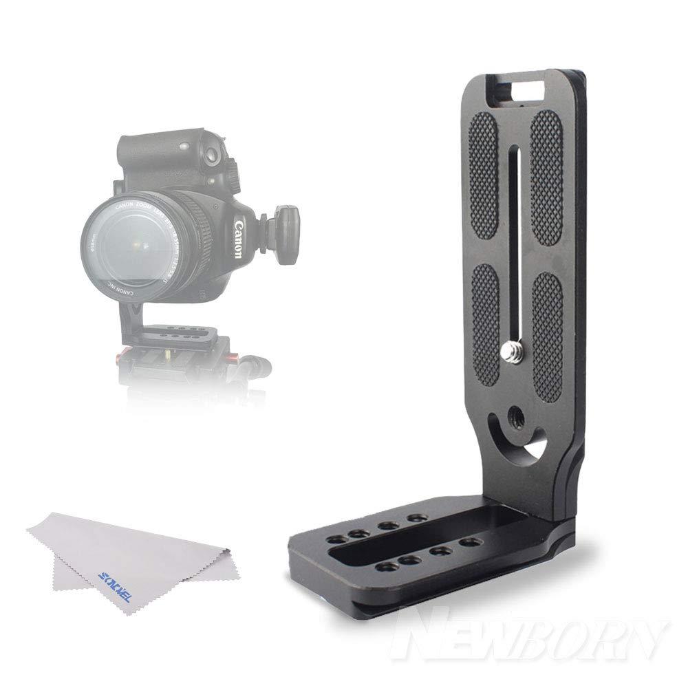 ユニバーサルカメラLブラケット クイックリリース Lプレート 1/4インチ スクリュー アルカスイス垂直撮影 油圧ヘッド キヤノン 7D 5D Mark III IV ニコン D800 D850 ソニー A9 A7M3 A7R3 A7R2 A6300 A6500   B07K1F7RM1