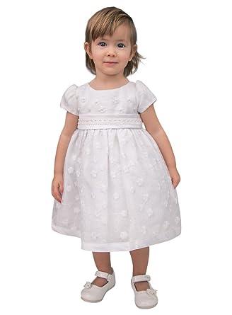 98f1067bdfcbd Boutique-Magique Robe de baptême bébé Fille Blanche  Amazon.fr  Vêtements  et accessoires
