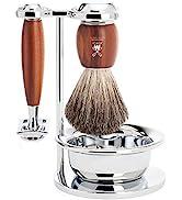 MÜHLE VIVO 4-piece Pure Badger Razor Modern Wet Shaving Set |Perfect for Everyday Use | Barbersho...