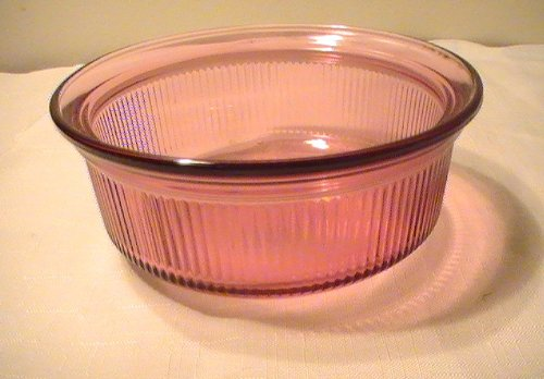 Corning Cranberry Vision Individual Casserole - C-16-B