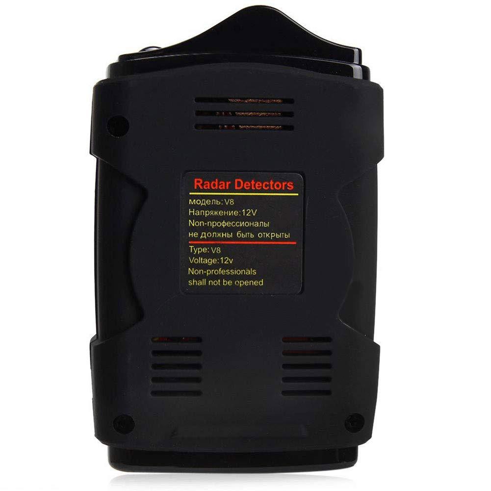 HOPQ V8 D/étecteur de Radar Automobile Version Russe//Anglaise Affichage LED D/étecteur de Radar