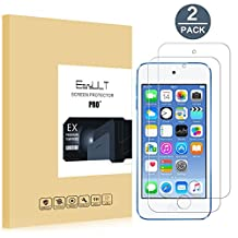[2 pack] iPod Touch 5/6/7 Screen Protector, EasyULT Premium Tempered Glass Screen Protector,with Double Defense Technology with [2.5D Round Edge] [9H Hardness] [Crystal Clear] [Scratch Resist] [No-Bubble]