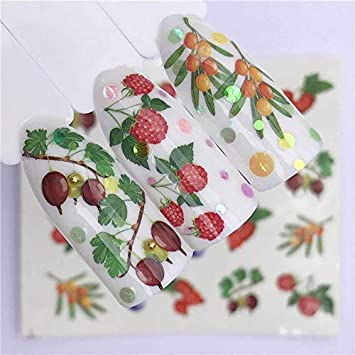 90b540be6a116 Cake For - 1 Sheet Water Transfer Nail Sticker Decals Fruit Cream Cake Cat  Beauty Decoration