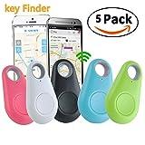 GBD Smart Finder Locator Pet Tracker Alarm for Key Wallet Car Kids Dog Cat Child Bag Phone Locator Selfie Shutter Wireless Seeker Anti Lost Travel Camping (Smart Finder 5pack)