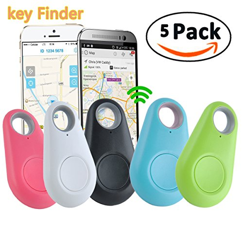 GBD Smart Finder Locator Pet Tracker Alarm for Key Wallet Car Kids Dog Cat Child Bag Phone Locator Selfie Shutter Wireless Seeker Anti Lost Travel Camping (Smart Finder 5pack) by GBD