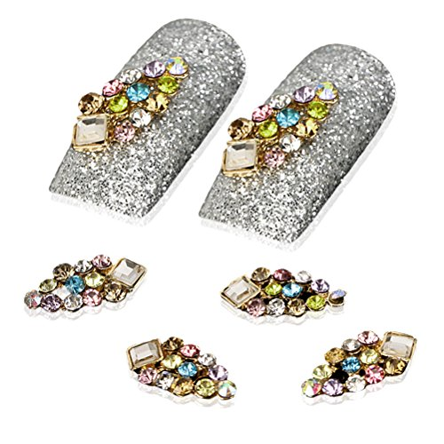 YESURPRISE New Trendy 10 Alloy 3D Colorful Crystal Rhinestone Nail Art Cute Glitter DIY Decoration Fashion Gift Style 17