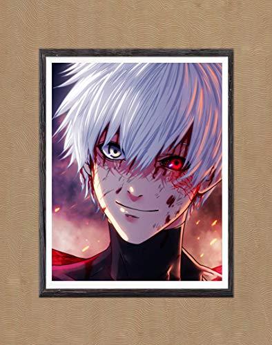 MS Fun Ghoul of Blood Mask Kaneki Ken SSS Monster Digital Anime Poster Wall Decor Canvas Art Print,8 x 10 Inches,No Frame