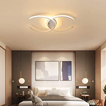 Lámpara LED para dormitorio lámpara de techo regulable con mando a ...