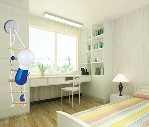 DMMSS Bedside Lamp Wall Lamp Fashion Simple Childlike Cartoon Children Room Climb Climbing Children Wall Lamp by DMMSS