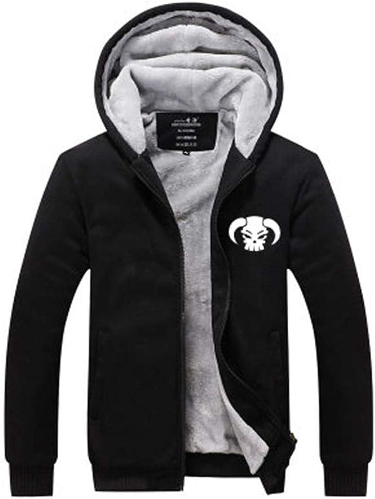 Gumstyle One Piece Anime Unisex Full-Zip Hoodie Coat Winter Thicken Fleece Warm
