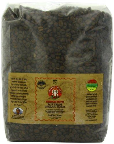 Reggies Roast - Reggie's Roast Whole Bean  Coffee, Fair Trade Organic Blend, 5lb