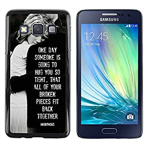Paccase / SLIM PC / Aliminium Casa Carcasa Funda Case Cover para - love heartbreaks family black white - Samsung Galaxy A3 SM-A300