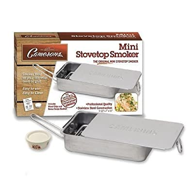 Nceonshop(TM) Stovetop Smoker - The Original Camerons Gourmet Mini Stainless Steel Smoker New from Nceonshop