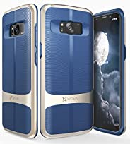 Galaxy S8 Plus Case, Vena [vAllure] Wave Texture [Bumper Frame][CornerGuard Shockproof | Strong Grip] Slim Hyb