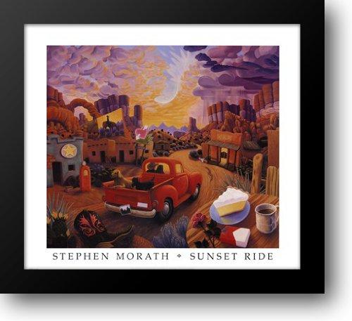 Sunset Ride 34x31 Framed Art Print by Morath, Stephen ()