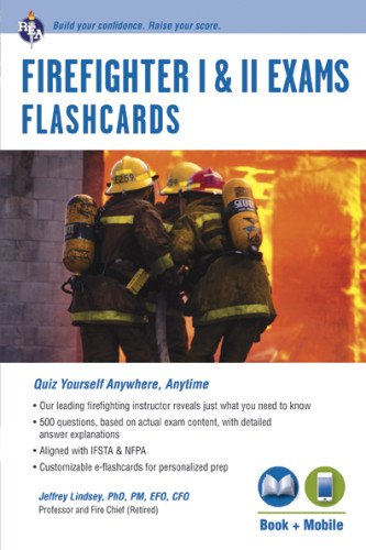 Firefighter I & II Exams Flashcard Book (Book + Online) (Firefighter Exam Test Preparation)