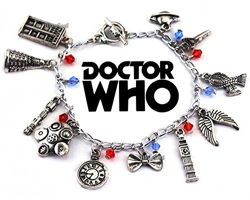 Doctor Who Charm Bracelet - Doctor Who Jewelry Merchandise Gifts for Women -