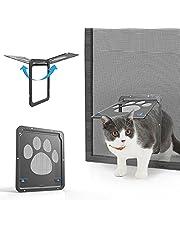 Namsan hondenklep kattenklep huisdier scherm deur afsluitbaar eenvoudige installatie genoeg vrijheid voor katten en kleine hond, klein: 29cm x 24cm, grijs
