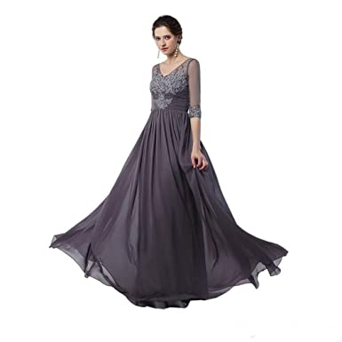 Gray Mother of Bride Dress for Formal