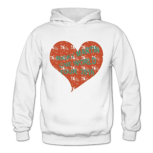 Vintage Love Ricky Martin One Word Tour Classic Women's Hooded Hoodies White S -