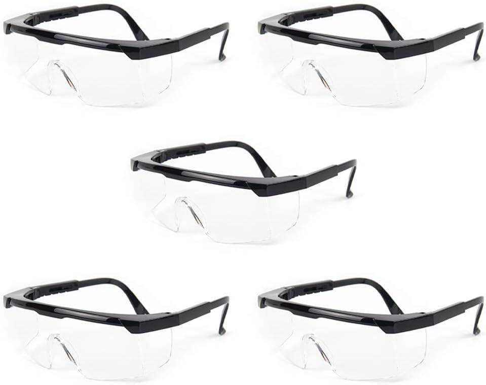 aoory Gafas Protectoras Gafas Protección Anti-Virus Ojos Antiniebla A Prueba de Salpicaduras con Marco Ajustable Unisex