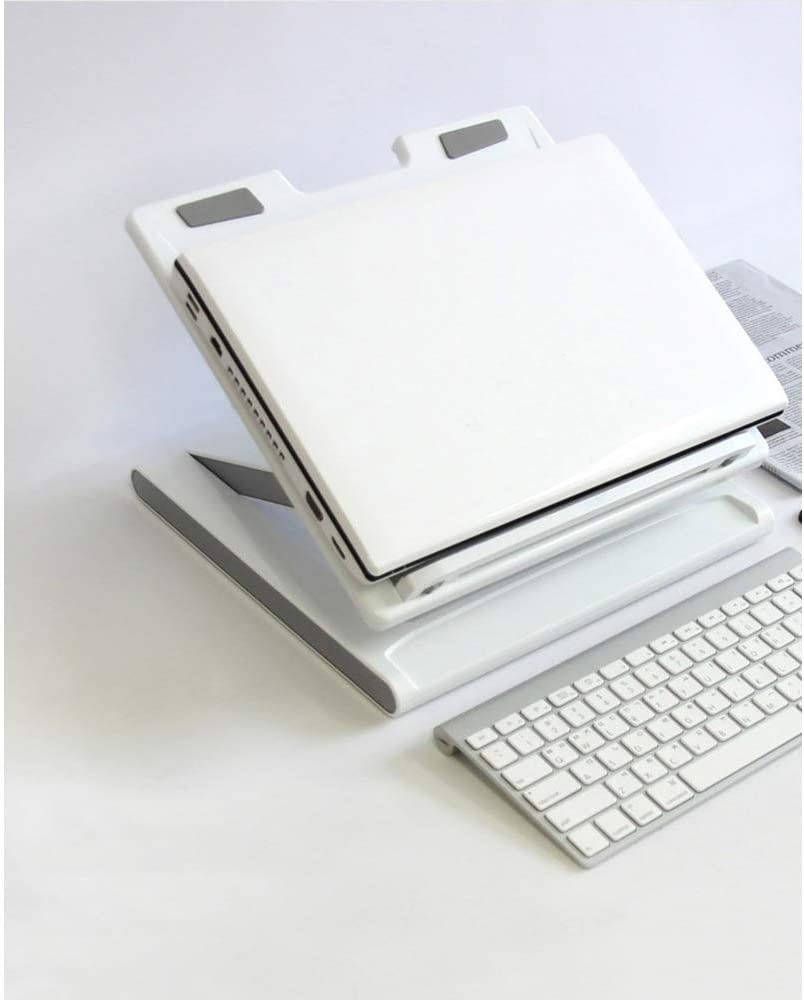 Color : White Laptop Cooler Lifting Bracket USB Expansion Bracket Cervical Vertebral Support Ultra-Thin Portable