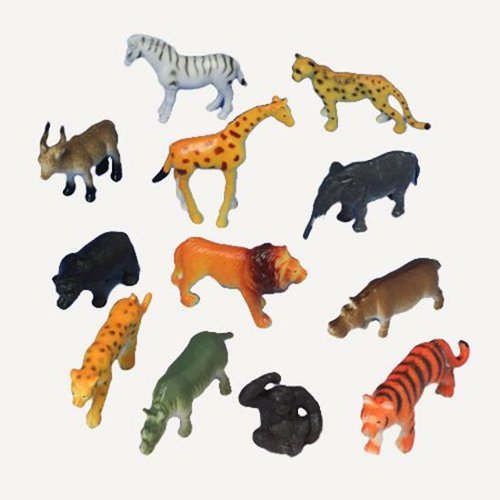 Assorted Mini Plastic Wild Jungle Safari Animal Action