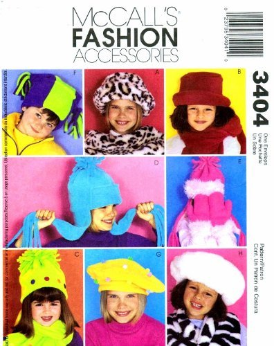 McCall's 3404 Sewing Pattern Hats Scarf Mittens