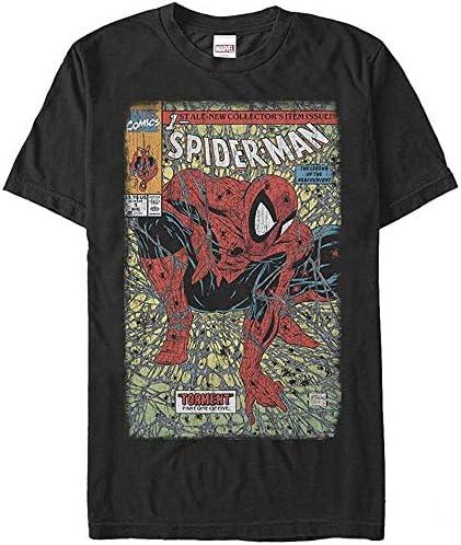 MarvelマーベルスパイダーマンレジェンドオブアラクナイトメンズショートファニーTシャツ半袖 S~4L