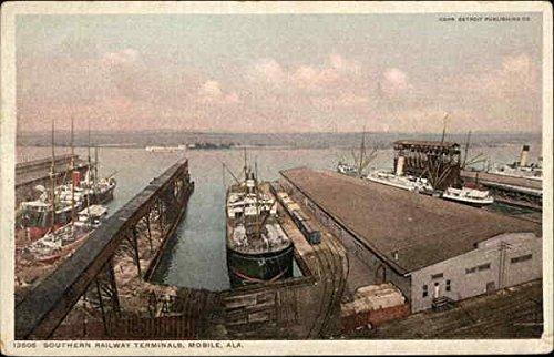Southern Railway Terminals on the Waterfront Mobile, Alabama Original Vintage -
