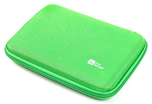 """DURAGADGET Premium Quality Green Hard Armoured Shell EVA Case / Cover / Sleeve with Internal Netted Accessories Pouch for Polaroid Infinite 7"""""""