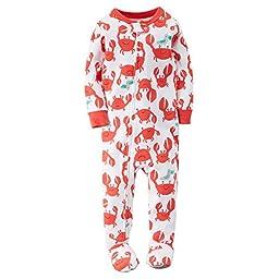 Carter\'s Baby Boys\' 1-Piece Snug Fit Cotton Pajamas (12 Months, Crabs)