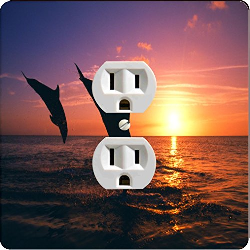 Rikki Knight 1606 Outlet Dolphin Silhouette In Water Design Outlet - Outlet Dolphin