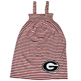 Glitter Gear Georgia Bulldogs Official NCAA Striped Sleeveless Smocked Dress W/Large Logo. Fanatic 2 T by