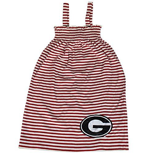 Glitter Gear Georgia Bulldogs Official NCAA Striped Sleeveless Smocked Dress W/Large Logo. Fanatic 2 T by by Glitter Gear
