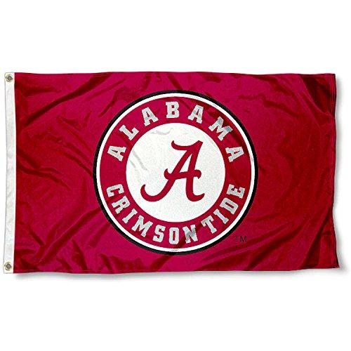 Alabama Crimson Tide Flag (Alabama Crimson Tide Roll Tide University Large College Flag)