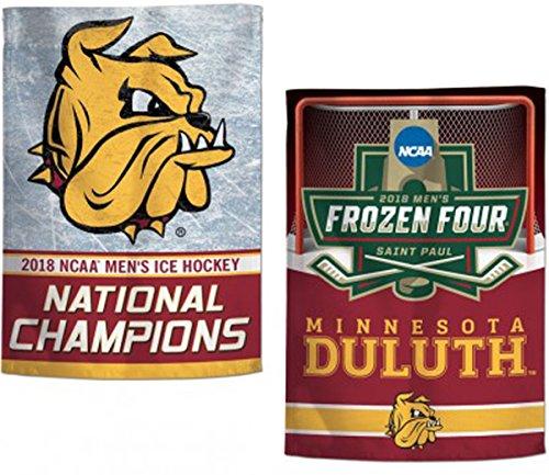 WinCraft Minnesota Duluth Bulldogs 2018 NCAA Men's Ice Hockey Champions Garden Flag, 12.5 x 18 inches, 2 sided (Ncaa Prints Shop)