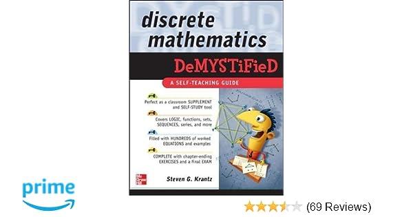 discrete mathematics demystified steven g krantz 9780071549486