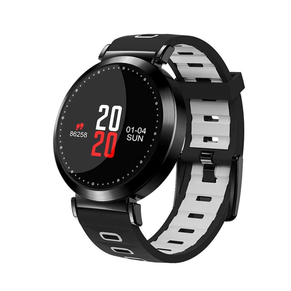 Reloj Inteligente Impermeable, Pantalla De Color Tensiómetro Monitor De Ritmo Cardíaco Actividad Seguimiento Smart Band Azul para Android, iOS Smartphone,D: ...
