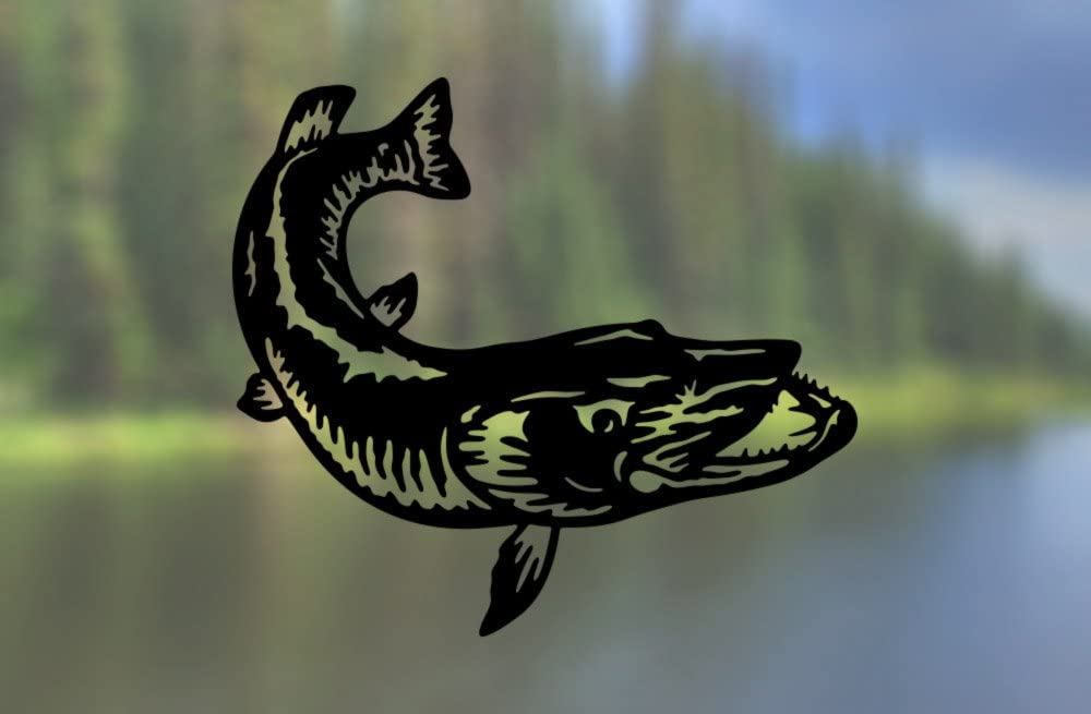 Vinyl Decal SELECT SIZE Car Truck Laptop AK Wall Art Muskie Fish Fishing
