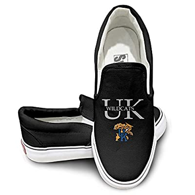 PTCY Kentucky Wildcat UK Athletic Unisex Flat Canvas Shoes Sneaker Black