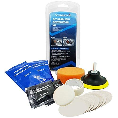 Kit de polissage ré novation phares voiture - Retrouvez l'é clat de vos optiques - Delonnay Saaji