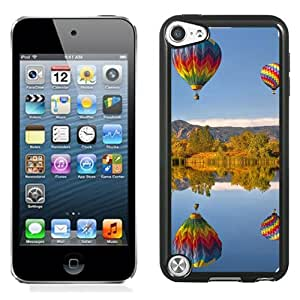 New Beautiful Custom Designed Cover Case For iPod 5 With Hot Air Balloon Lake Reflection Phone Case