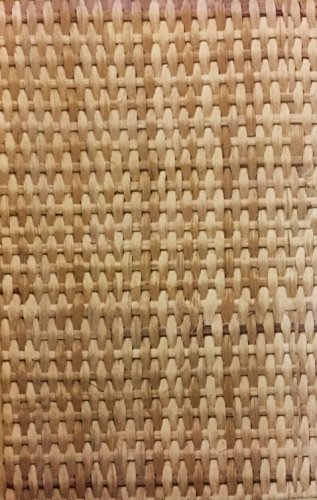 Bamboo Basekt Weave Vinyl Flannel Back Tablecloth (60