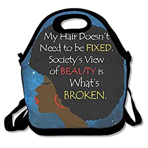 Mujer africana arte de la palabra pelo natural bolsa para el ...