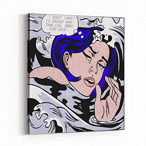 Canvas Wall Art Print Poster - Pop Art, Roy Lichtenstein style French, Vintage, Art Deco 1096